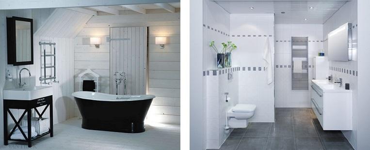 Vloertegels Badkamer Wit ~ Landelijke badkamer en standaard badkamer